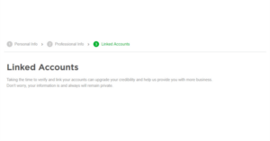 Fiverr profile linked account