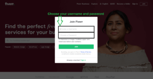 How to create Fiverr Account 3