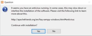 Xampp Antivirus Warning
