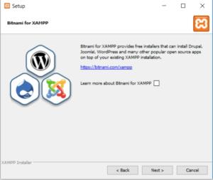 Xampp install wizerd step 4