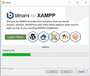 Xampp install wizerd step 6