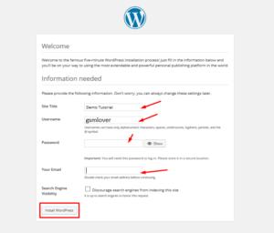 how to install wordpress on Xamp step 11