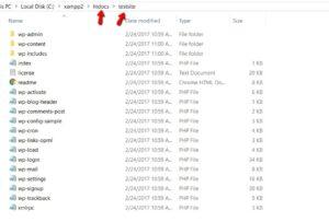 how to install wordpress on Xamp step 2