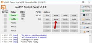 how to install wordpress on Xamp step 3